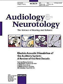 Portada del libro 9783805597838 Electric-Acoustic Stimulation of the Auditory System: A Review of the First Decade (Audiology & Neurotology 2011, Vol. 16, Suppl. 2)