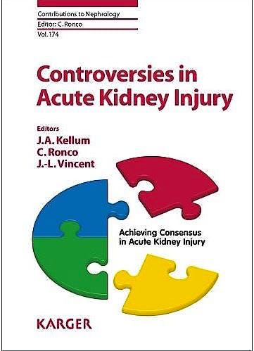 Portada del libro 9783805598101 Controversies in Acute Kidney Injury