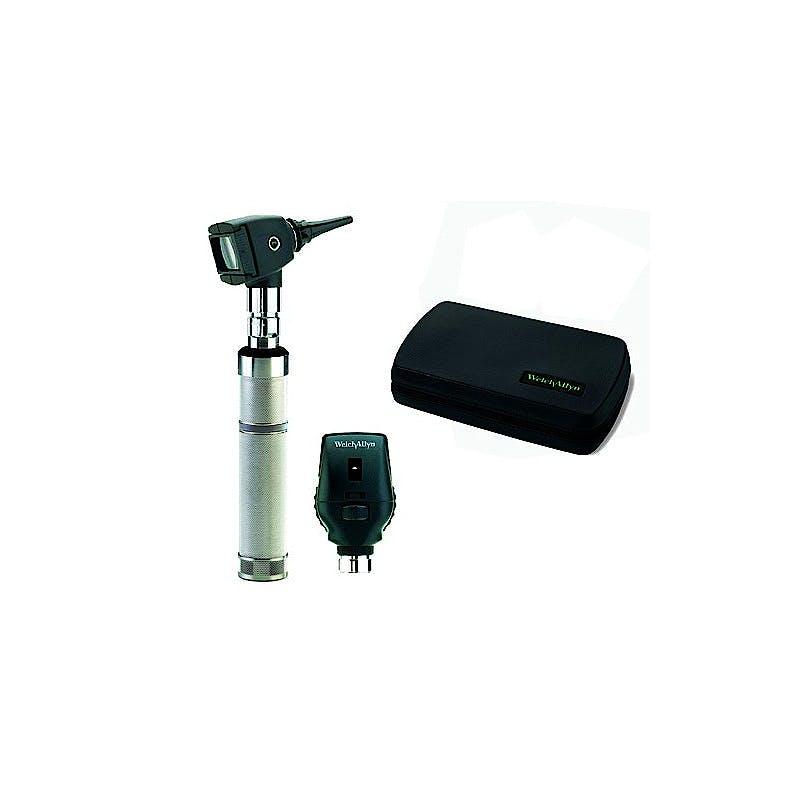 Set Oftalmoscopio-Otoscopio Welch Allyn Professional: Oftalmoscopio Halógeno + Cabezal de Otoscopio de Diagnóstico + Mango a Pilas + Estuche