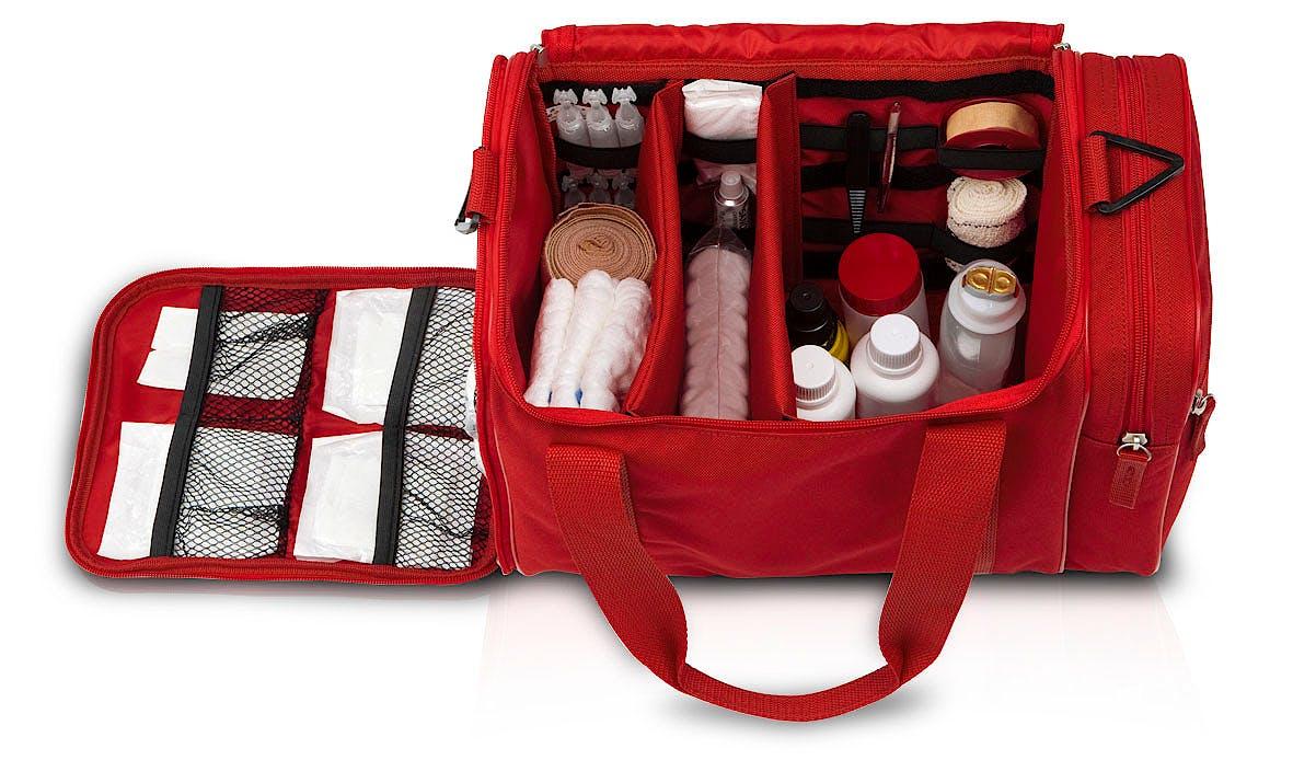 Botiquín de Primeros Auxilios de Gran Capacidad Rojo Modelo Jumble's EB08.004