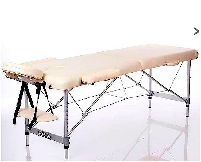 Camilla Plegable Kinefis Supreme Aluminio 2 Cuerpos Ancho 70 Cm (Color Crema)