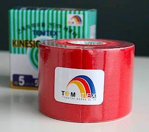 Temtex Kinesiology Tape: Caja de 6 Rollos de 5 m. x 5 cm., Color Rojo