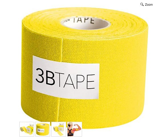 3B Tape Amarillo Kinesiology Tape, Rollo de 5 cm. x 5 m.