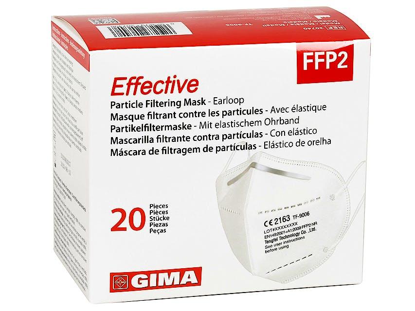Mascarilla FFP2 Filtrante GIMA sin Válvula, 20 Unidades