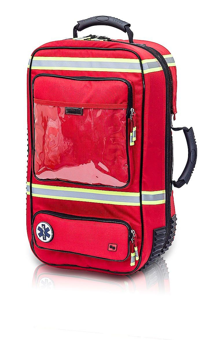 Maletín de Emergencias de Soporte Vital Avanzado (SVA) de Poliamida Rojo Modelo Emerair's EB02.006