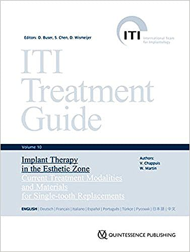 Portada del libro 9783868673432 ITI Treatment Guide, Vol. 10: Implant Therapy in the Esthetic Zone