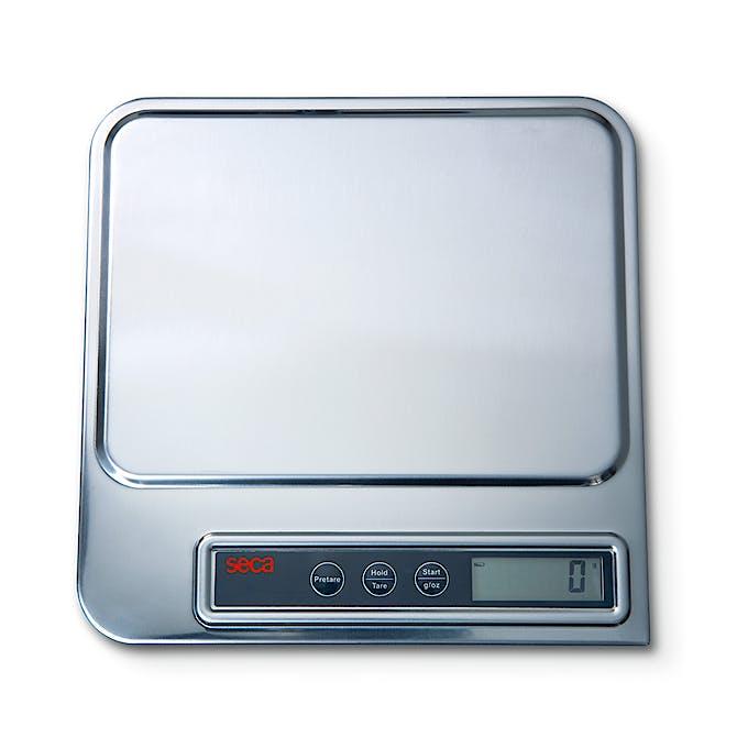 Báscula Electrónica de Sobremesa SECA Mod. 856, Superficie de Acero Inoxidable, Capacidad 5 kg., División 1 g.