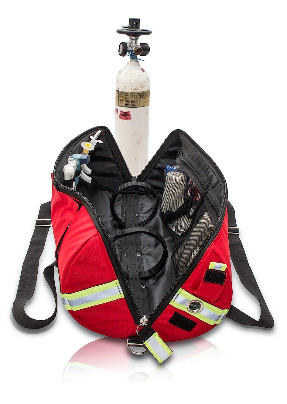 Funda para Botella Oxígeno Modelo TUBE'S EB02.016. Poliamida, Color Rojo