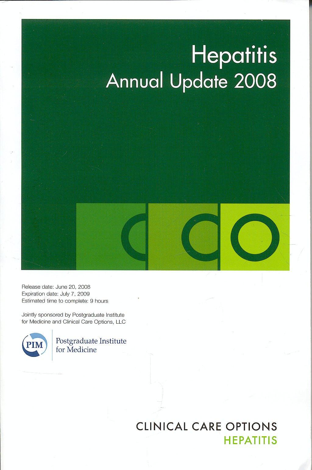 Portada del libro 9783890647388 Hepatitis Annual Update Book 2008