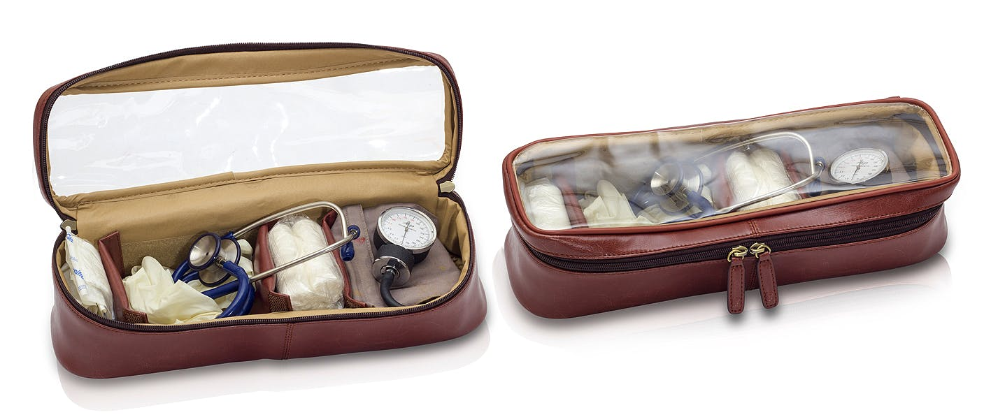 Maletín Médico Tradicional de Piel Marrón Modelo Doc's EB12.001