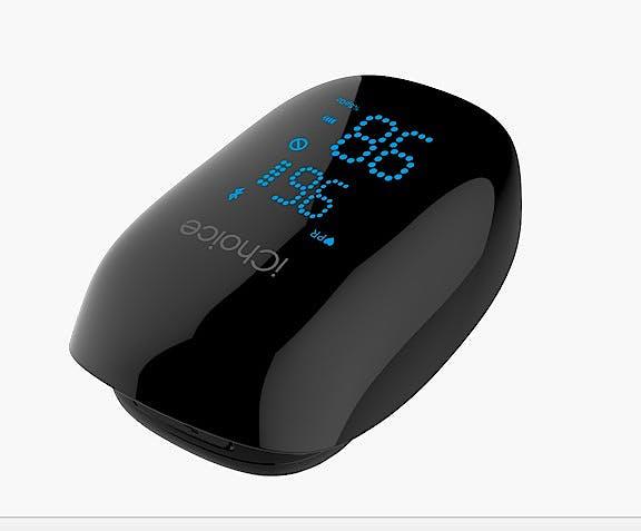 Pulsioxímetro de Dedo CHOICEMMED Ichoice Wireless-Bluetooth OX200, Batería Recargable por USB