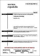 Portada del libro 9783936855968 Une-en Iso 9999:2012 V2 Productos de Apoyo para Personas con Discapacidad. Clasificación y Terminología. (Iso 9999:2011).