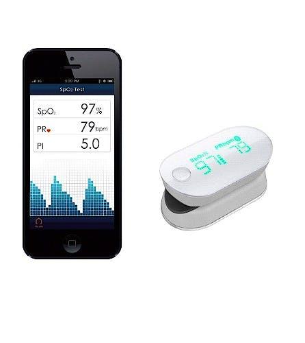 Pulsioximetro de Dedo Ihealth Wireless (Bluetooth) Compatible Iphone 4s, Ipad Mini, Ipad (3rd Generation) y Ipod Touch (5th Generation)