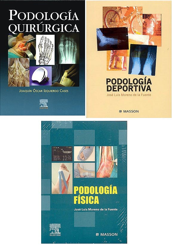 Portada del libro 9783943110395 Podología Quirúrgica + Podología Deportiva + Podología Física (Pack Oferta)