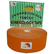 Temtex Kinesiology Tape: Caja de 1 Rollo de 32 m. x 5 cm., Color Naranja