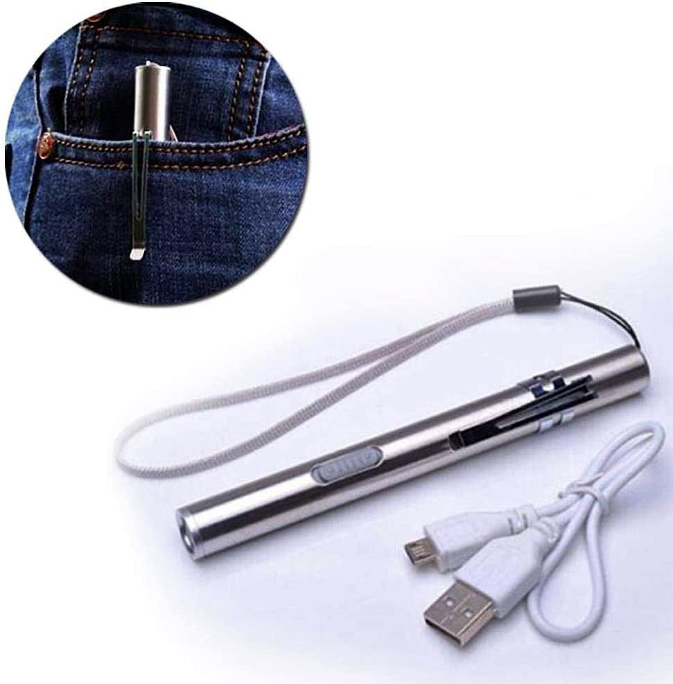 Linterna Exploración Led recargable USB + Cable USB