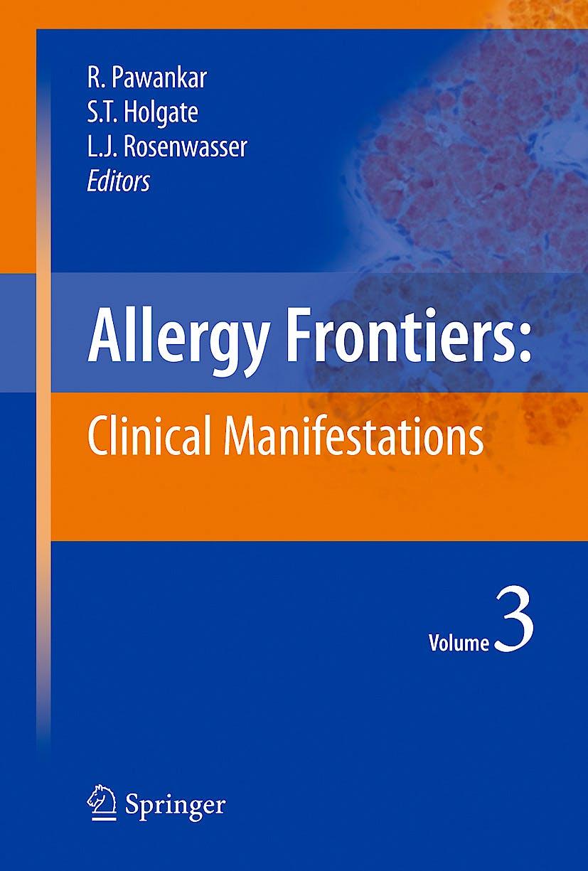 Portada del libro 9784431883166 Allergy Frontiers, Vol. 3: Clinical Manifestations