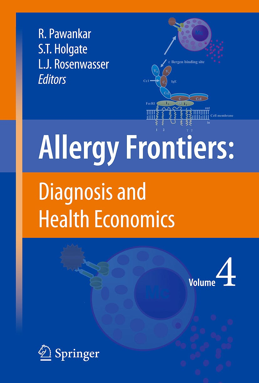 Portada del libro 9784431982937 Allergy Frontiers, Vol. 4: Diagnosis and Health Economics