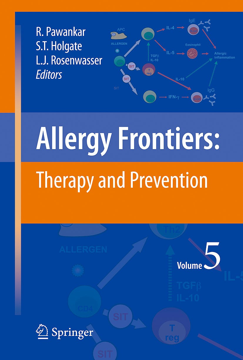 Portada del libro 9784431993612 Allergy Frontiers, Vol. 5: Therapy and Prevention