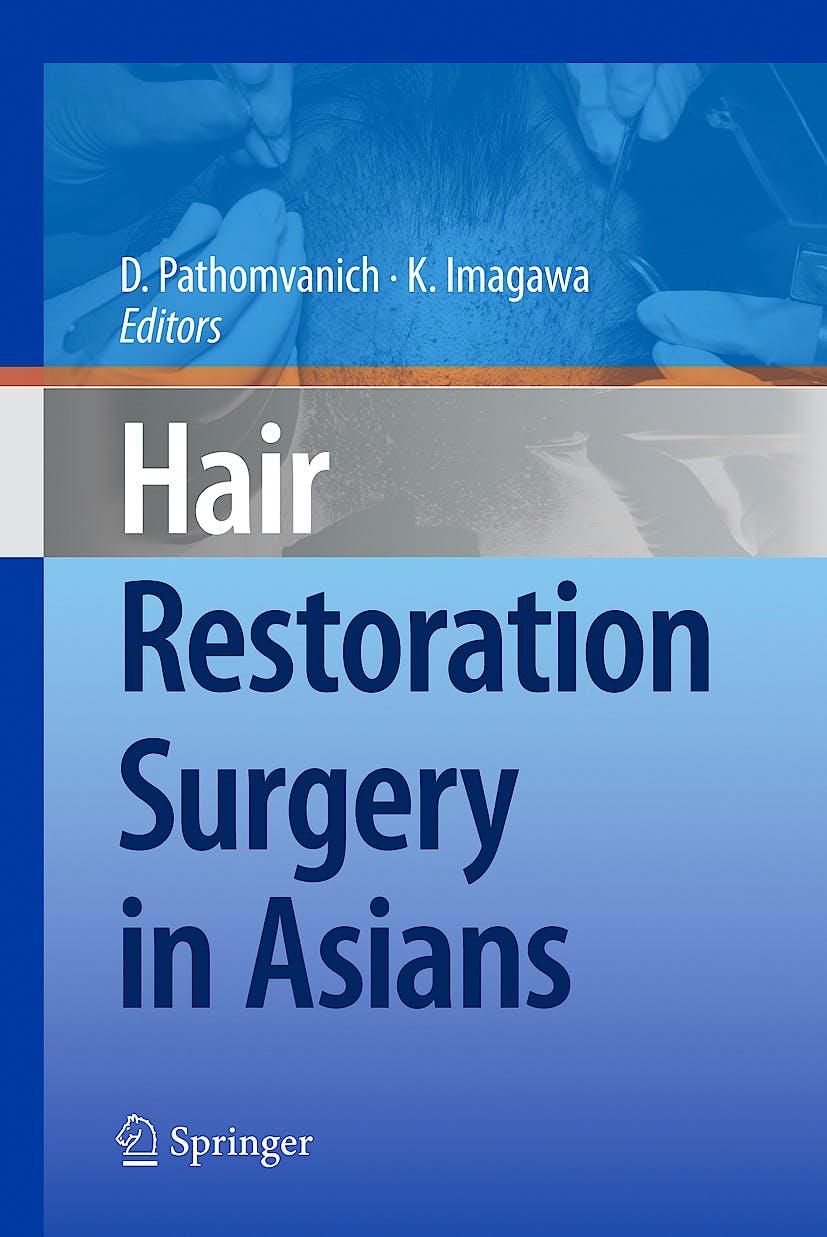 Portada del libro 9784431996583 Hair Restoration Surgery in Asians