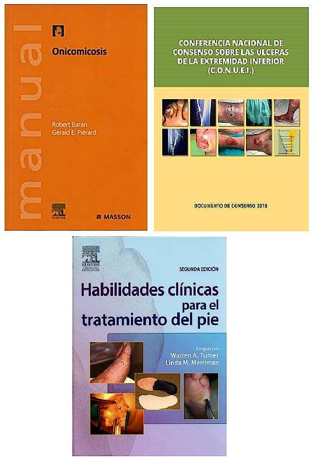 Portada del libro 9785519570411 Habilidades Clínicas Tratamiento del Pie + Onicomicosis + Consenso Úlceras Extremidad Inferior (Pack Oferta)