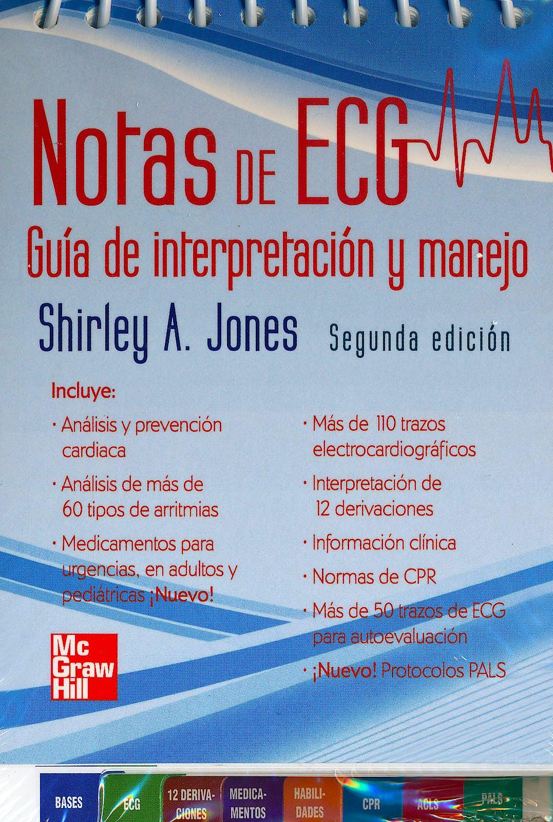 Portada del libro 9786071506672 Notas de Ecg. Guia de Interpretacion y Manejo