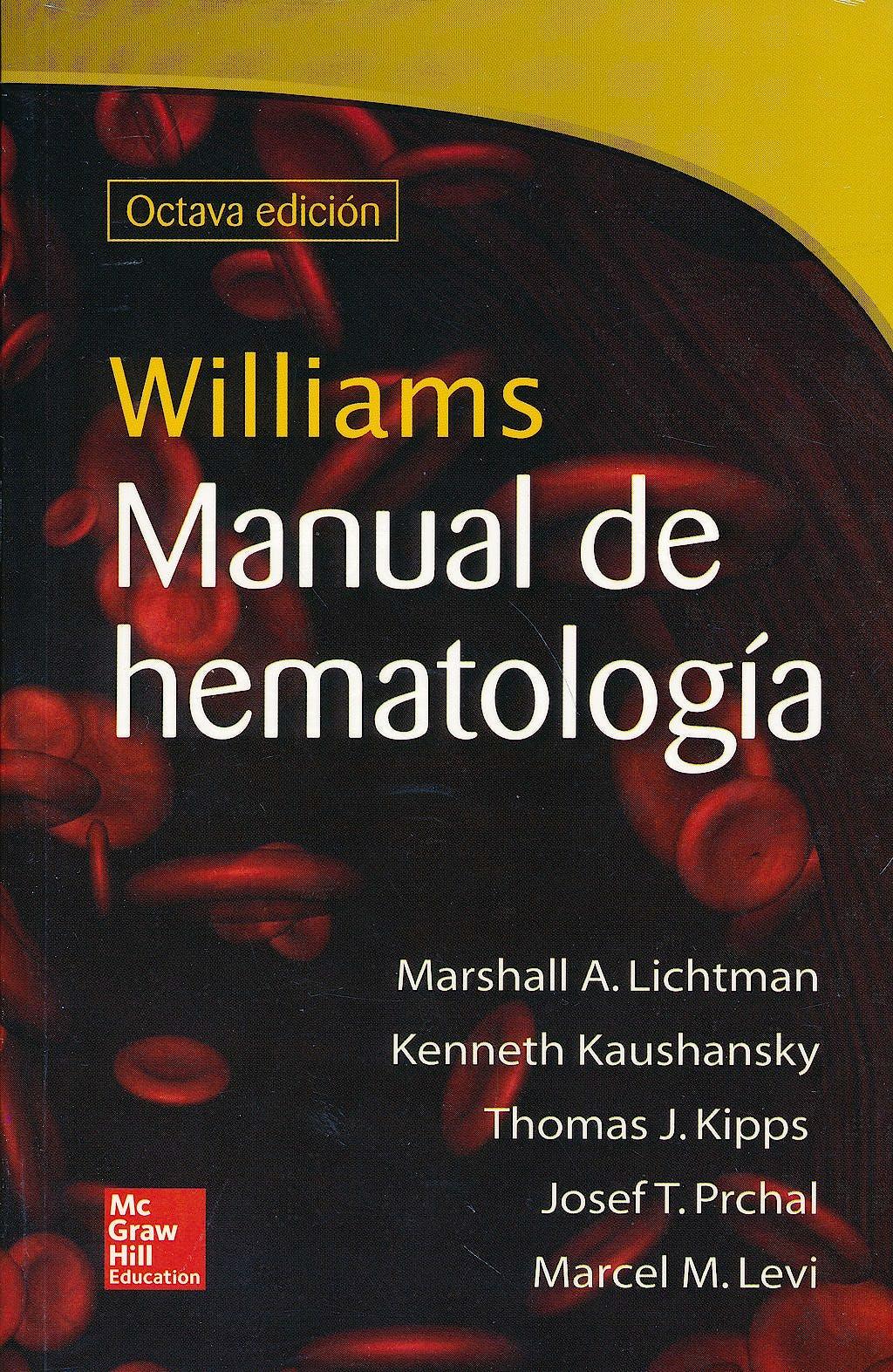 Portada del libro 9786071510006 Williams Manual de Hematologia