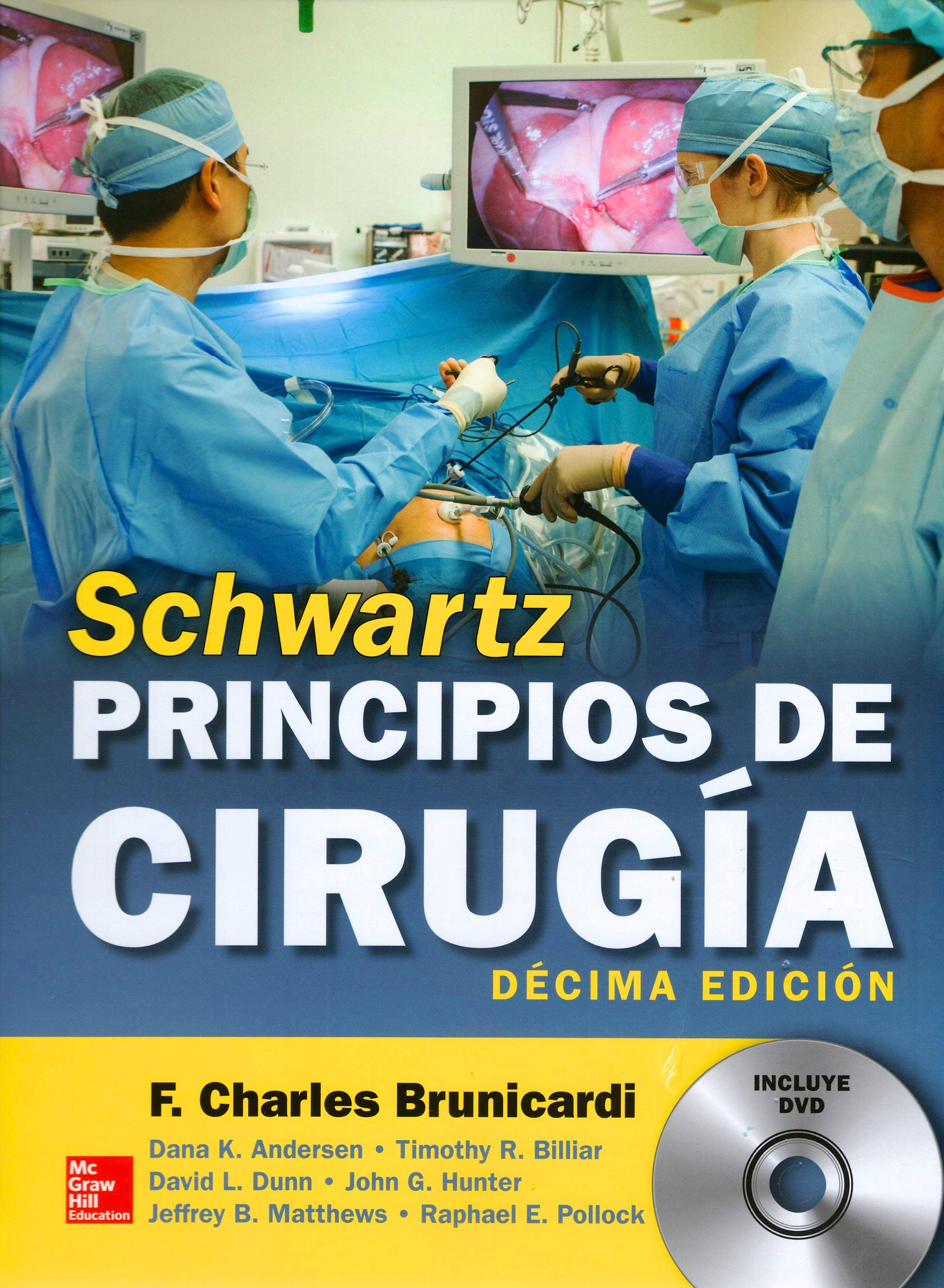 Portada del libro 9786071512758 Schwartz Principios de Cirugía + DVD