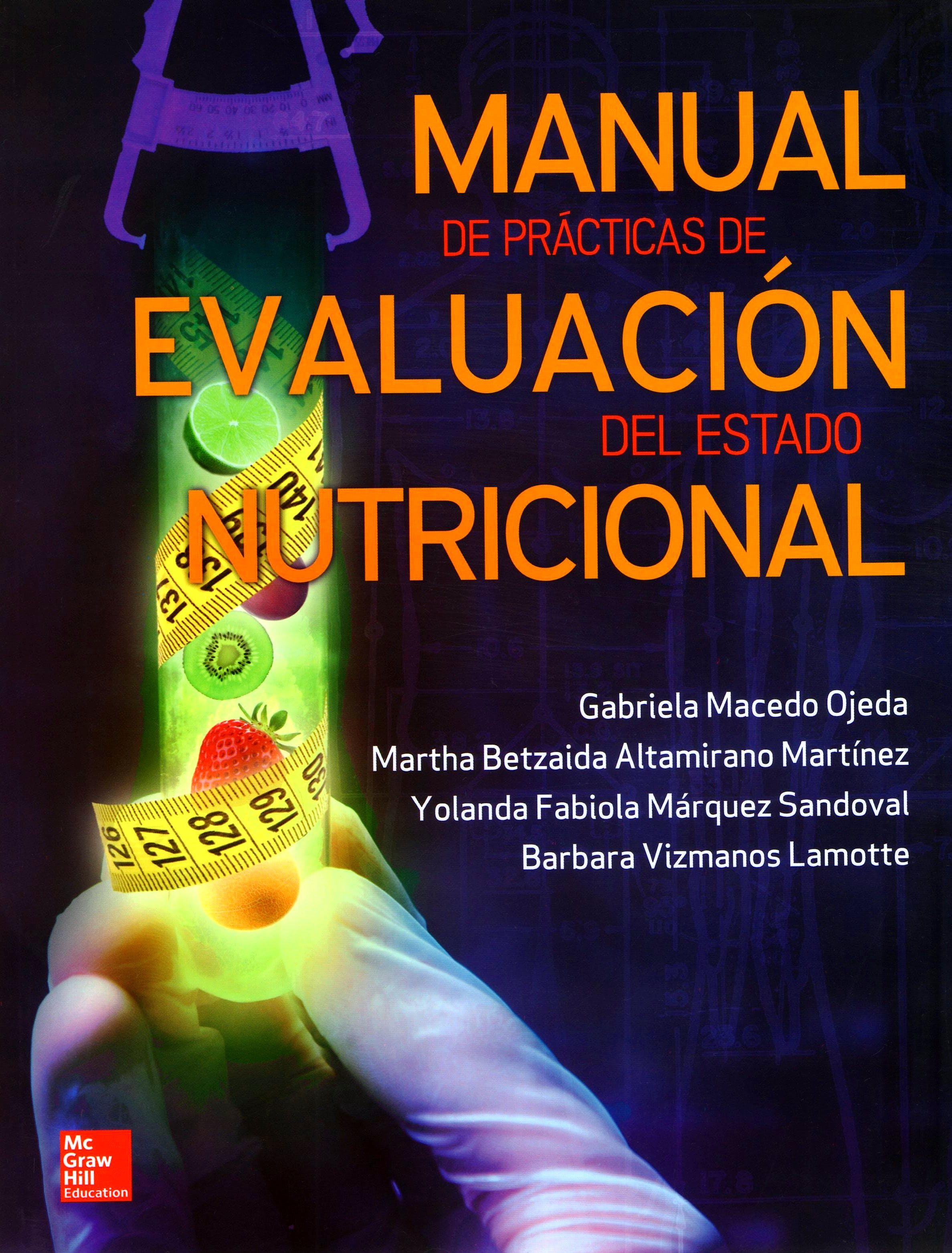 Portada del libro 9786071513069 Manual de Practicas de Evaluacion del Estado Nutricional