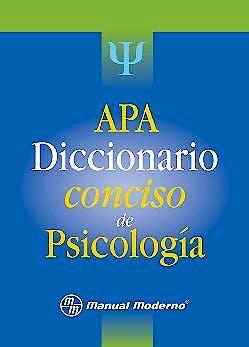 Portada del libro 9786074480603 APA Diccionario Conciso de Psicología