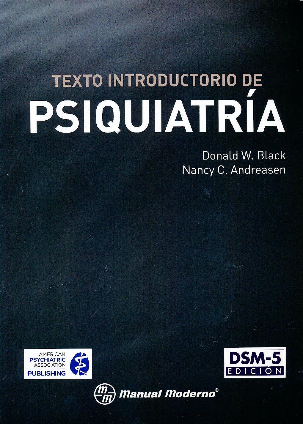 Portada del libro 9786074485318 Texto Introductorio de Psiquiatría