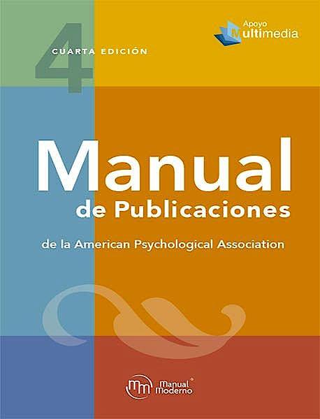 Portada del libro 9786074488562 Manual de Publicaciones de la American Psychological Association. Manual APA