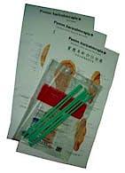 Láminas Puntos Auriculoterapia (Set de 3 Láminas 50 x 100 cm.), Español-Chino, con Varillas de Sujeción Incluidas
