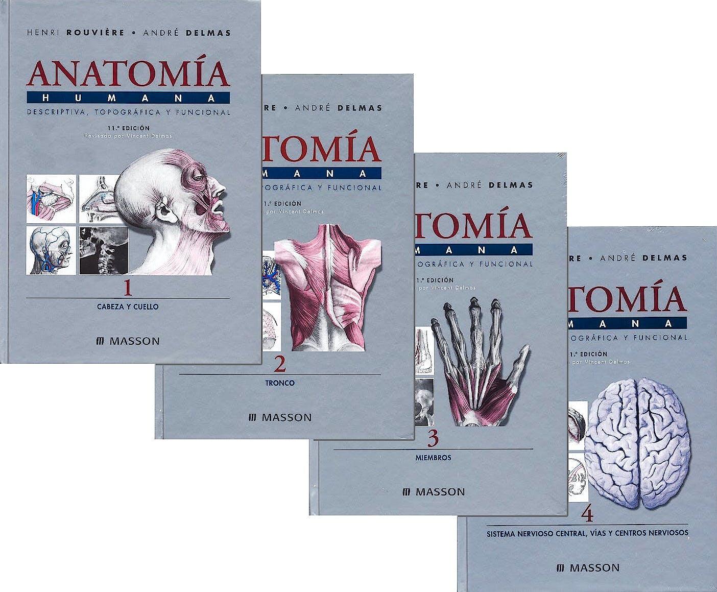 Portada del libro 9787445815345 Lote Rouviere Anatomia Humana, 4 Vols. (Obra Completa)