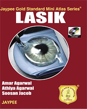 Portada del libro 9788184485295 Lasik (Jaypee Gold Standard Mini Atlas Series) + Dvd-Rom