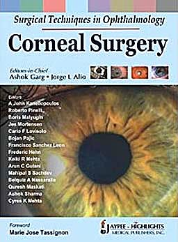 Portada del libro 9788184488579 Surgical Techniques in Ophthalmology. Corneal Sugery