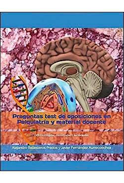 Portada del libro 9788409122684 Preguntas Test de Oposiciones en Psiquiatría y Material Docente
