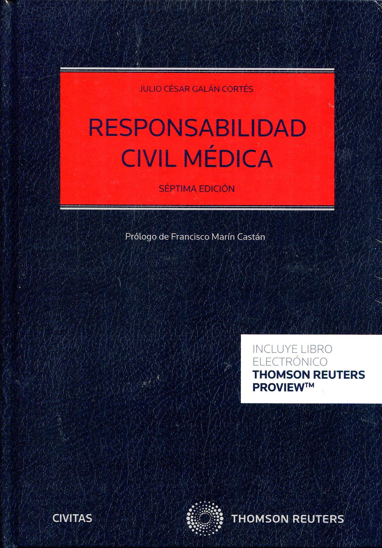 Portada del libro 9788413460147 Responsabilidad Civil Médica (Papel + Digital)