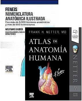Portada del libro 9788413821351 Lote FENEIS Nomenclatura Anatómica Ilustrada + NETTER Atlas de Anatomía Humana