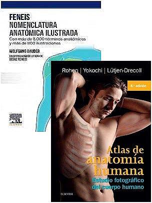 Portada del libro 9788413821368 Lote Feneis Nomenclatura Anatómica Ilustrada + Atlas de Anatomía Humana. Estudio Fotográfico del Cuerpo Humano