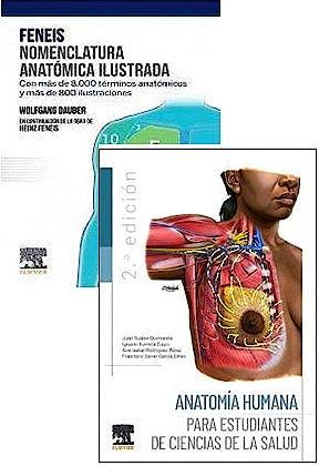 Portada del libro 9788413821382 Lote FENEIS Nomenclatura Anatómica Ilustrada + Anatomía Humana para Estudiantes de Ciencias de la Salud