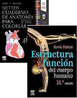 Portada del libro 9788413821436 Lote NETTER Cuaderno de Anatomía para Colorear + Estructura y Función del Cuerpo Humano