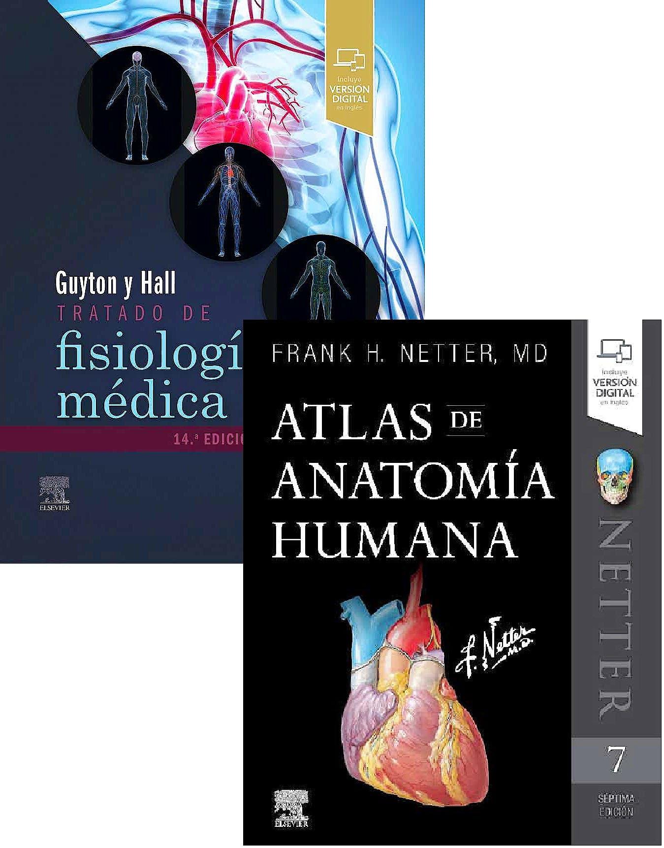 Portada del libro 9788413821931 Lote Guyton y Hall Tratado de Fisiología Médica + Netter Atlas de Anatomía Humana