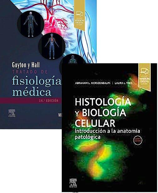 Portada del libro 9788413821955 Lote Guyton y Hall Tratado de Fisiología Médica + Histología y Biología Celular