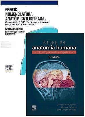 Portada del libro 9788413822570 Lote FENEIS Nomenclatura Anatómica Ilustrada + ROHEN Atlas de Anatomía Humana