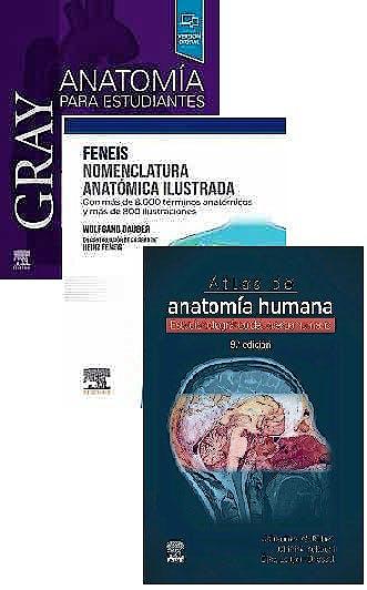 Portada del libro 9788413822587 Lote GRAY Anatomía para Estudiantes + FENEIS Nomenclatura Anatómica Ilustrada + ROHEN Atlas de Anatomía Humana