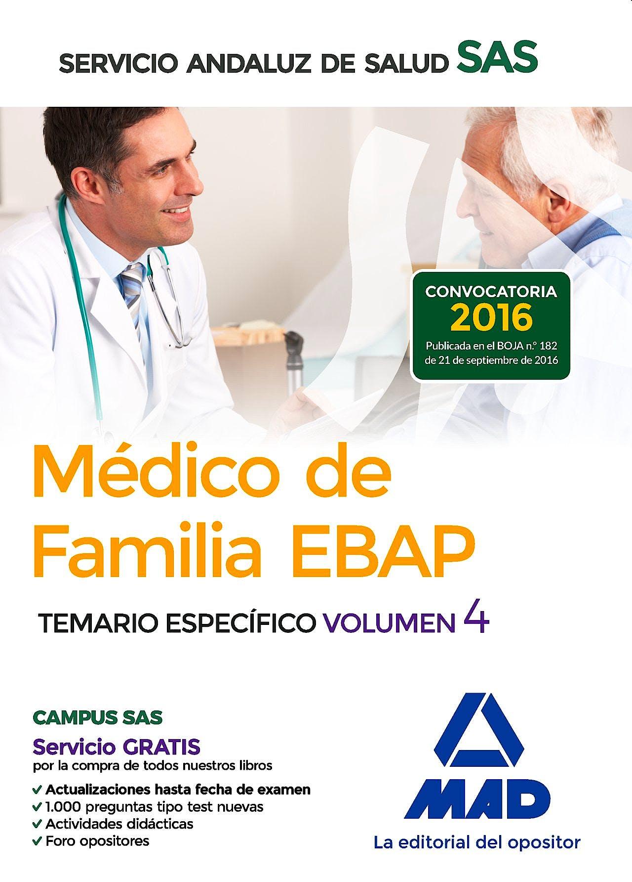 Portada del libro 9788414201312 Medico de Familia Ebap Servicio Andaluz de Salud (Sas). Temario Especifico, Vol. 4