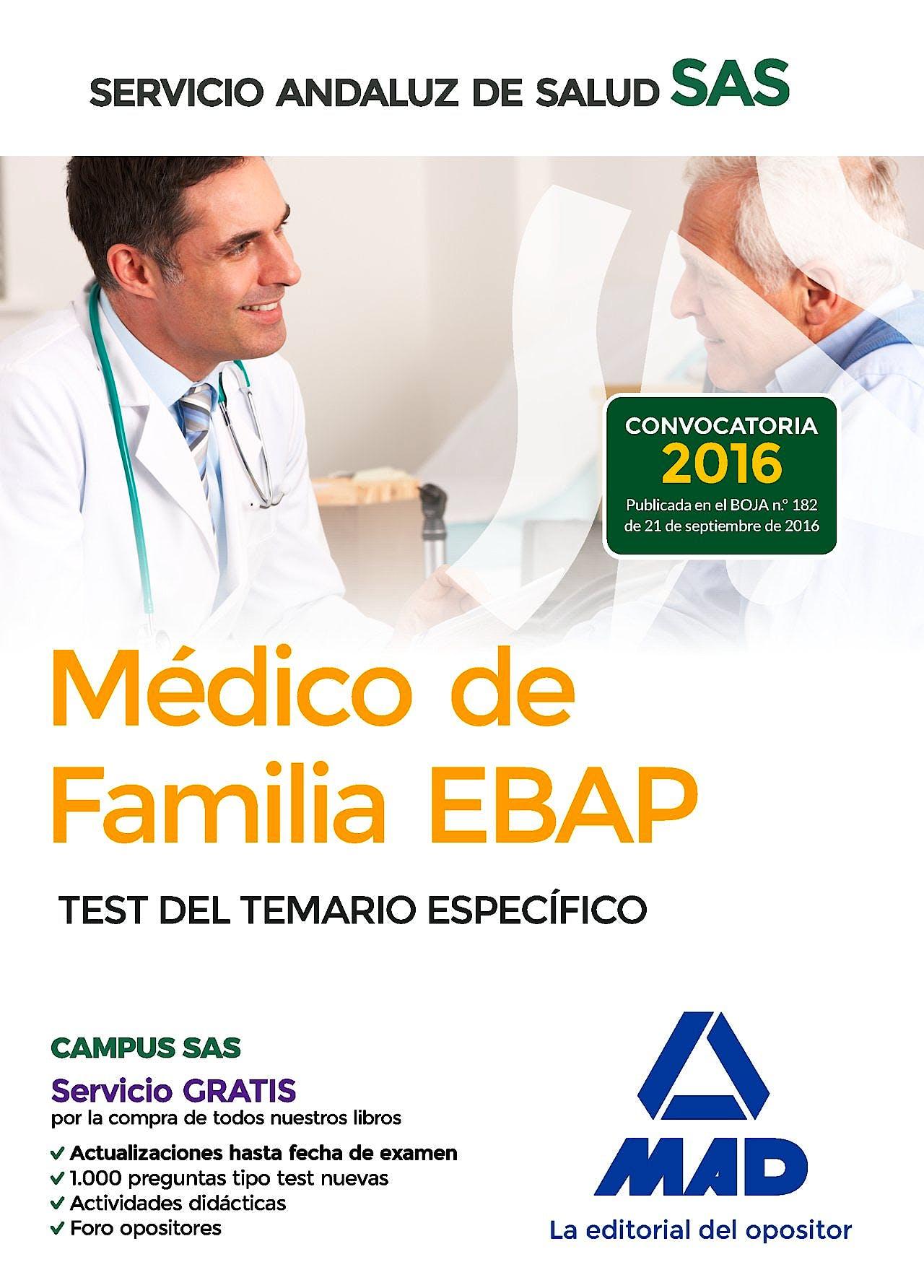 Portada del libro 9788414202302 Medico de Familia Ebap Servicio Andaluz de Salud (Sas). Test