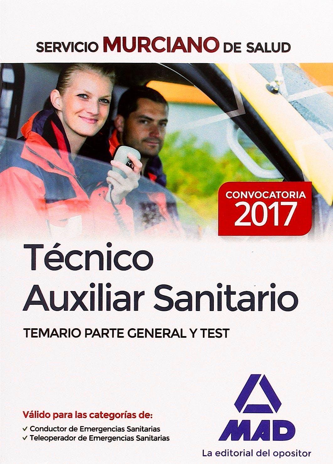 Portada del libro 9788414203286 Técnico Auxiliar Sanitario Servicio Murciano de Salud. Temario Parte General y Test
