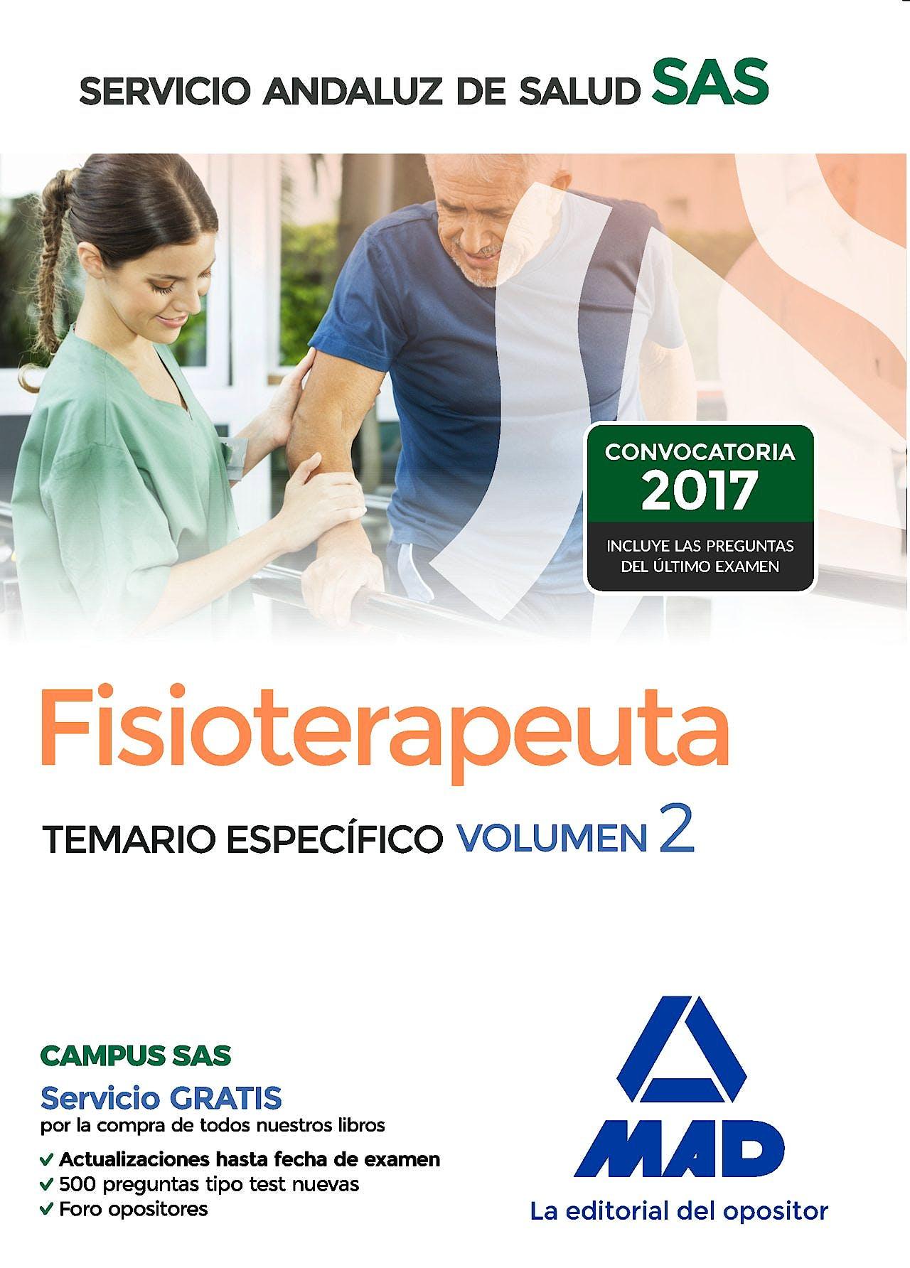 Portada del libro 9788414203811 Fisioterapeuta Servicio Andaluz de Salud (SAS). Temario Específico, Vol. 2